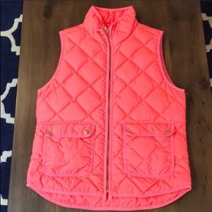 J.Crew Quilted Excursion Vest Size M Pink